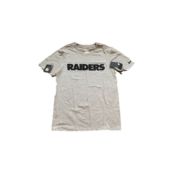 huge selection of 73ee0 8194f Oakland Raiders Nike Men's Wordmark Shirt Small NWT